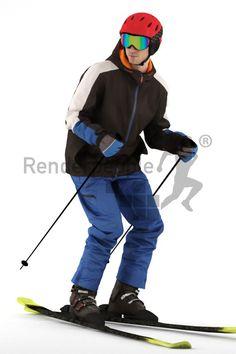 modell i fult slalomutstyr.