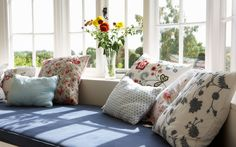 A window seat lends style and function to your home. Learn how to build a DIY window seat from easily obtainable materials. Window Benches, Window Seats, Room Window, Custom Cushions, Buying A New Home, Bedroom Storage, Windows And Doors, Bay Windows, House Windows