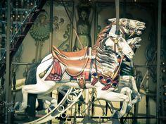 "Paris, Montmartre Horses Carousel - 7-3/8"" x 9-6/8"" Print - Europe Travel Photography - Fine Art Photography. $25.00, via Etsy."