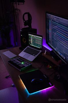 Simple But Complete Home Recording Bedroom Music Studio Setup With A Macbook Pro Krk Studio Mo Music Studio Room Home Studio Setup Home Recording Studio Setup
