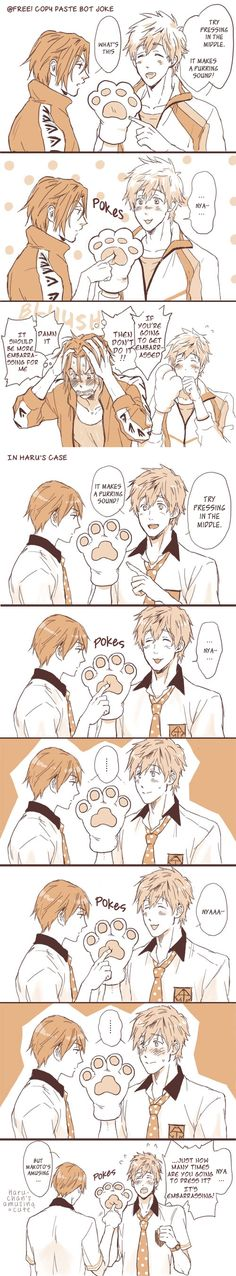 Free! ~~ When a joke backfires, it can be even better than it was before! :: MaRinKa :: Makoto, Rin, and Haruka