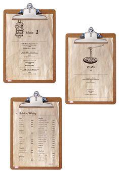 飲食店のおしゃれなメニューデザイン - アルニコデザイン B&b Restaurant, Restaurant Menu Design, Restaurant Branding, Food Menu Design, Cafe Design, Menu Original, Menu Layout, Cafe Concept, Menu Book