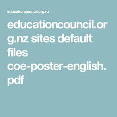 educationcouncil.org.nz sites default files coe-poster-english.pdf Reflective Practitioner, Reflective Practice, Childcare, Activities, Pdf, Teacher, English, Poster, Professor