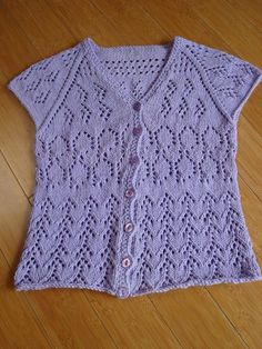 Lilac Cardi   This project was made as part of a Craftsy course:  The Perfect Fit Seamless Crazy Lace Cardigan »  