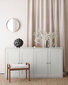 Sideboard Design, Cabinet Design, Ikea Cabinets, Storage Cabinets, Best Ikea, Storage Design, Home Room Design, House Rooms, Scandinavian Style