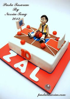 BASKETBALL CAKE - ZAL BİRTHDAY CAKE by CAKE BY NESRİN TONG, via Flickr