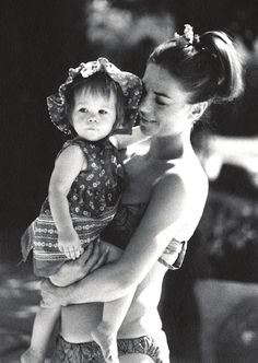 Natalie Wood with baby Natasha on vacation in Palm Springs, 1972.