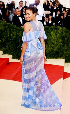 Worst Dressed from Worst Dressed at the Met Gala 2016  May has arrived, whichmeans it's Met Gala time! And with any star-studded event comes this unfortunate list of individuals whojust missed the mark in the wardrobe department.Take Irina Shayk, for example.The model's blue Americana gown just played too many different roles.