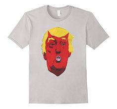 Trump and Clinton Halloween Costumes - Choose Edgy or Funny - Men's Anti-Trump for President 2016 T-Shirt Silver