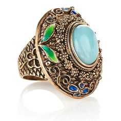 Amy Kahn Russell Oval Amazonite Bronze Ring