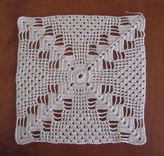 Labores de Beli: Muestra Crochet Bedspread Pattern, Crochet Square Patterns, Crochet Quilt, Crochet Blocks, Crochet Tablecloth, Crochet Pillow, Crochet Diagram, Crochet Squares, Crochet Home