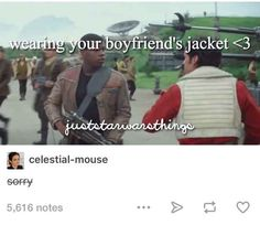 When they couldn't let the Poe/Finn ship go. <-- don't ship it at all but this is funny
