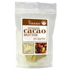 100% Organic Cacao Butter 16oz by Tisano