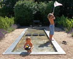 LOVE THIS IDEA BUT MAKE IT LONG AND SKINNY AND UNDER A BRIDGE GOING INTO KIDS AREA Delight Department blog