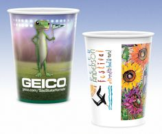 Print customized logo on reusable white plastic cups. These Reusable White Plastic Cups deliver a powerful 1-2 punch. The high gloss, Hi-definition full-color print gives you a memorable first impression. These reusable plastic cups great for #meetings, #events, #seminars, trade shows, #picnics - any promotion where you need to reach beverage drinkers.