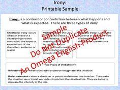 English teaching worksheets: Irony