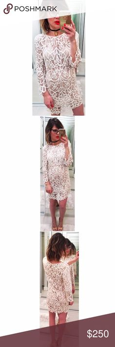 ➡3.1 Phillip Lim Lace Shift Dress⬅ 3.1 Phillip Lim's intricate cream lace mini dress is a delicate shift that makes a fabulous hot-weather evening look. It features three-quarter length sleeves, a small V at back of neck, a scalloped hem, is double lined in sheer then opaque silk and simply slips on. 100% rayon; lining: 100% silk.  💕Offers welcome. Take 30% off your entire purchase automatically at checkout when you use the bundle feature, or make an offer for your bundle. Happy Poshing!💕…