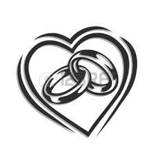 wedding bells pictures clip art black outline joined hearts clip rh pinterest com free wedding hearts clipart black heart wedding clipart