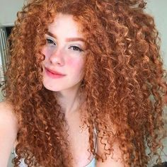Image may contain: 1 person, closeup Long Curly Hair, Curly Hair Styles, Natural Hair Styles, Fancy Hairstyles, Girl Hairstyles, Red Hair Inspo, Different Hair Colors, Coloured Hair, Beautiful Redhead