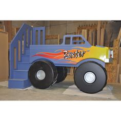 Monster Truck Bed - The Boy wants this bed/room