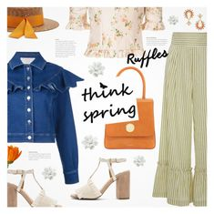 """""""What a Frill: Ruffles"""" by beautifulplace ❤ liked on Polyvore featuring Sara Battaglia, Jaggar, Brock Collection, Mansur Gavriel, Federica Moretti and Anton Heunis"""