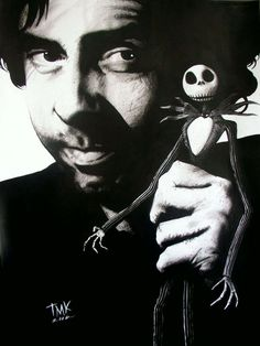 Tim Burton- to balance out the holiday cheer.  (He started as a Disney animator, but they thought him a bit dark.  You don't say...)