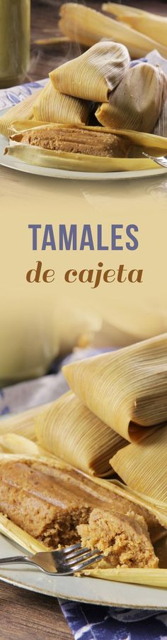 Estos suaves, esponjosos y deliciosos tamales de hoja de maíz con sabor a cajeta acompañados con un poco de nuez serán tu postre perfecto para acompañarlos con un delicioso atolito. Mexican Cooking, Mexican Food Recipes, Sweet Recipes, Sweet Tamales, Tamale Recipe, Mexico Food, Mexican Dishes, International Recipes, Love Food