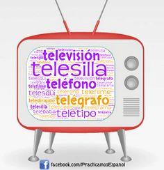 Nube de palabras de la #televisión   Más materiales en www.profedeele.es