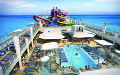 Take your pick of five multi-story water slides, two swimming pools and four hot tubs at the Aqua Park.