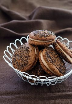 Brownie Cookies with Espresso Filling