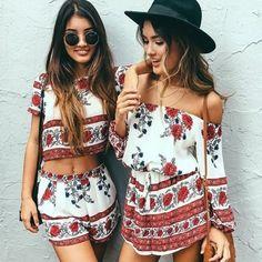 Boho print play suit patterned showpo playsuit/ romper. Coming soon Sabo Skirt Tops Crop Tops
