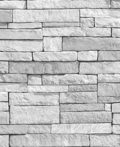 Graham and Brown N/A Ledgestone Faux Slate Motif Paper Non-Pasted Wallpaper from the Modern Living Collection Look Wallpaper, Stone Wallpaper, Brown Wallpaper, Kitchen Wallpaper, Textured Wallpaper, Faux Stone, White Stone, Grey Brick, Coastal Living Rooms