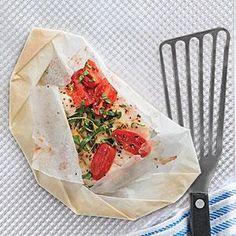 Flounder en Papillote Recipe | MyRecipes.com