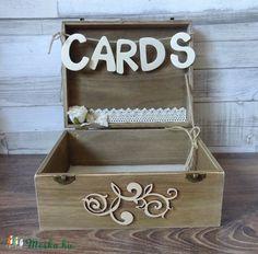 Esküvőre  rusztikus pénzgyűjtő doboz láda fadoboz, Esküvő, Esküvői dekoráció, Nászajándék, Gyűrűpárna, Meska