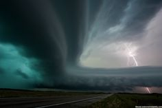 Awe-some!  2009 Nebraska supercell with lightning.  By extreme instability