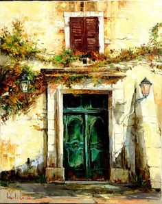 Russian artist Gleb Goloubetski | South facade 100x80 2006 — with Gülten Okutan and Lawrence Luggionskky.