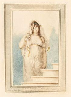 Madame Récamier by Antoine-Alexandre-Joseph Cardon after Richard Cosway, ca. 1804 (PD-art/old), Muzeum Łazienki Królewskie (MLK)