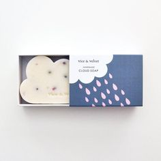 Brighten up a drizzly day with handmade, cloud-shaped soap.