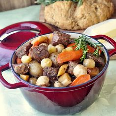 St. John's Stout Stew - starting with beer braised beef makes for a delicious fall weekend slow cooked stew. Herbs and one or two other surprise ingredients make this a beautifully balanced comfort food meal.