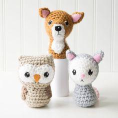 Adorblings™ Backyard Critters 4: Owl, Deer, Opossum Crochet Amigurumi Pattern, 4 inch - CraftyAlien.com