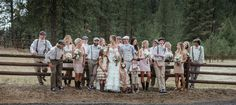 Matt Shumate Photography at The Ridge at Rivermere  wedding party portrait hanging out having fun next to fence