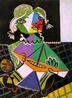 Maya with boat - Pablo Picasso  1938