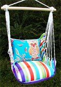 This swing chair is SO comfortable!  We're hoping to get one for our screen porch.