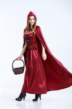 Aun nos quedan cositas para #CARNAVAL (ENVIO24h): #disfraz #caperucitaroja con capa larga, elegante y sexy  womanweapons.com