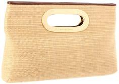 MICHAEL Michael Kors Soft Straw Berkley Clutch Clutch Handbags - Neutral