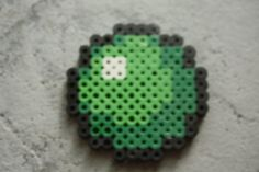 Perler Bead Minecraft Slimeball
