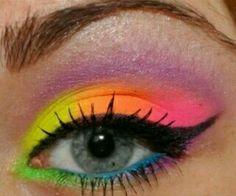 Super cool eye make up! BRIGHT