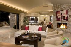 Modern Beautiful N Houses Interiors And Home Interior Designs Kerala Design Floor Plans Living Room Hall Ideas Drawing Decoration Pictures Style Model Small Decor Wall - Houses interior designs Modern Small House Design, Green House Design, Modern Home Interior Design, Apartment Interior Design, Interior Decorating, Stone Interior, Interior Lighting, Lighting Ideas, Beautiful Modern Homes