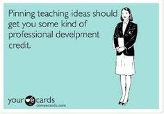 Speaking of which, no matter how hard you try, you can't help yourself from hopping on Pinterest every so often every day to save cool ideas for your classroom. | Community Post: 26 Signs You're A Teacher On Summer Break
