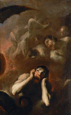 The Fall of the Rebel Angels - Detail, oil on canvas Renaissance Kunst, Renaissance Paintings, Arte Horror, Horror Art, Rennaissance Art, Les Fables, Culture Art, Arte Obscura, Ange Demon